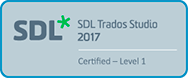 SDL Trados Studio 2017 - Level 1